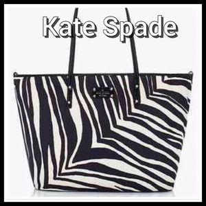 """Kate Spade Baby Tote Bag """"Zebra Harmony"""""""